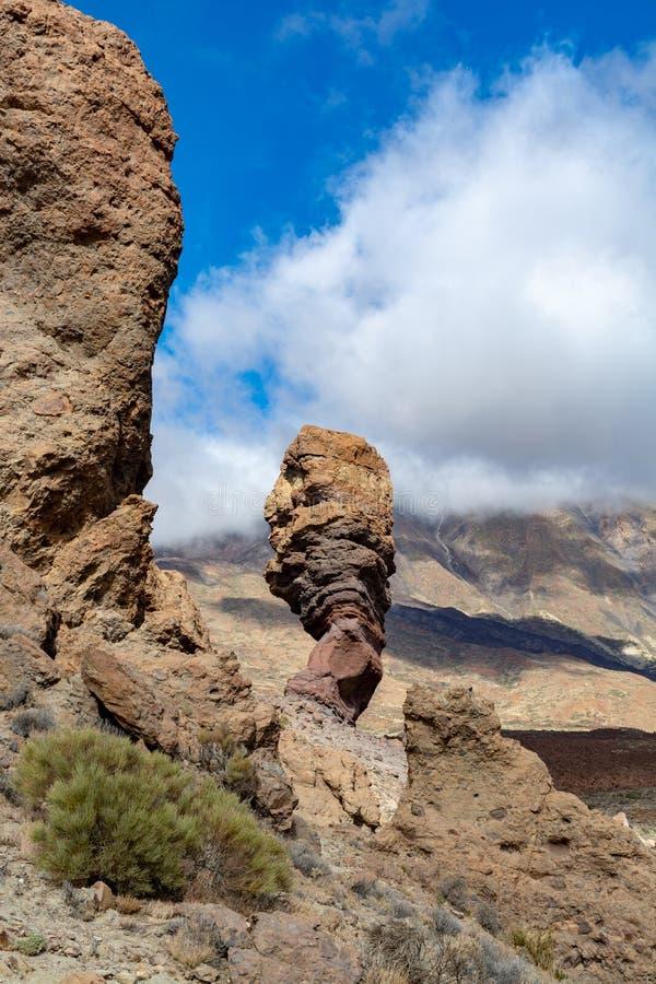 Roche volcanique et gisements de lave sur la plus haute montagne dans le bâti Teide, Tenetife, îles Canaries, Espagne de l'Espagn photos libres de droits