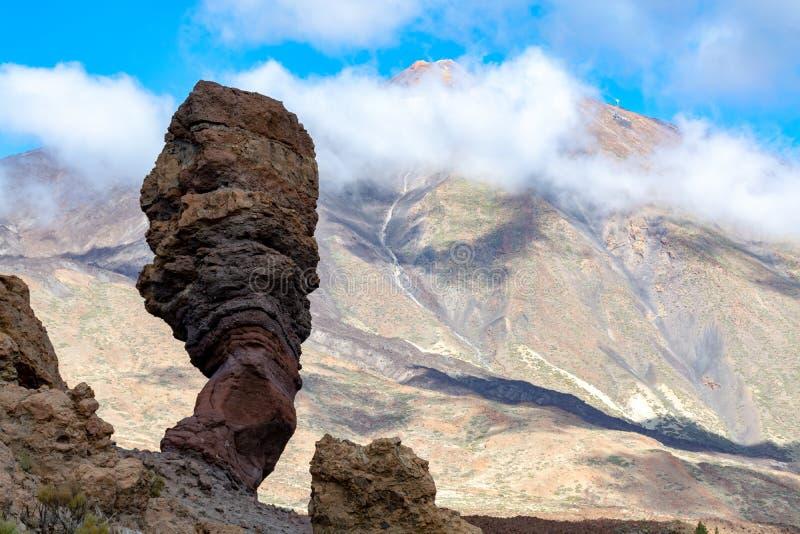 Roche volcanique et gisements de lave sur la plus haute montagne dans le bâti Teide, Tenetife, îles Canaries, Espagne de l'Espagn images libres de droits