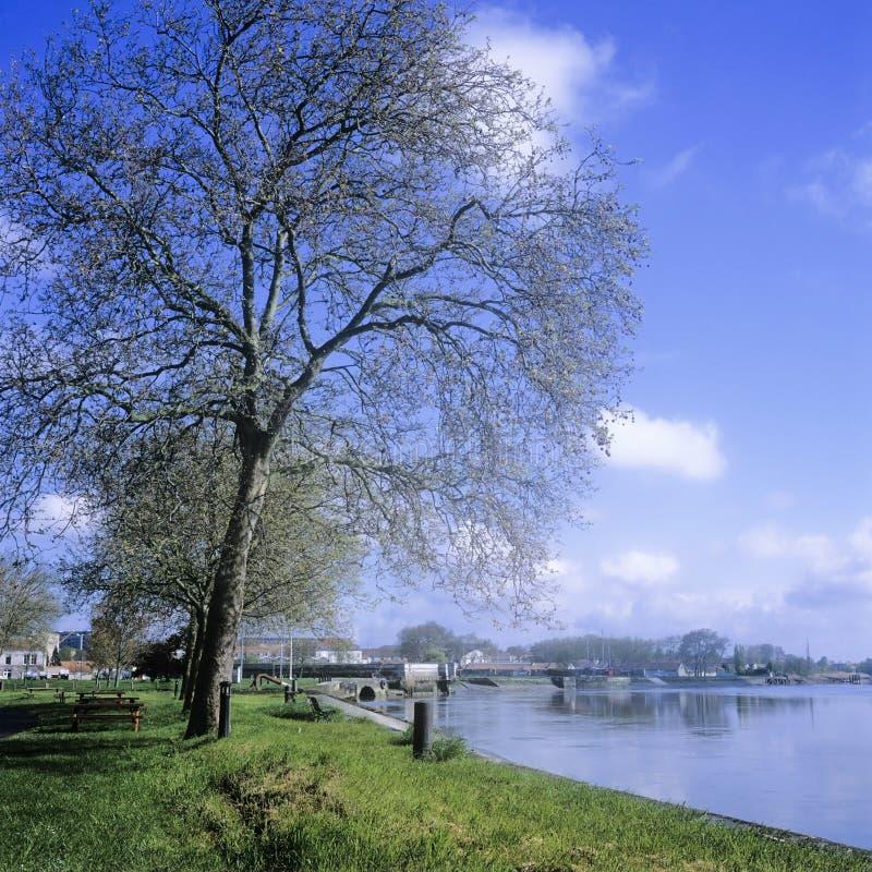 Rochefort de charente de fleuve photo libre de droits