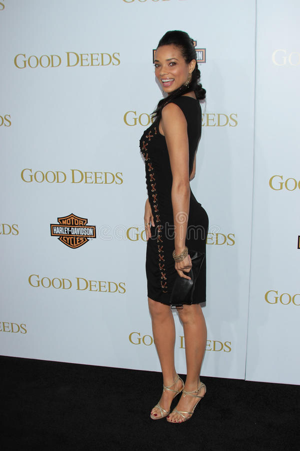 Rochelle Aytes. At Tyler Perry's Good Deeds Los Angeles Premiere, Regal Cinemas, Los Angeles, CA 02-14-12 stock images