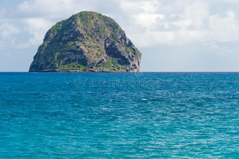Rocher du Diamant Diamond rock in Martinique stock photography