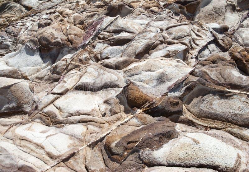 Rochers érodés de l'île St Thomas images libres de droits