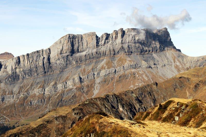 Rochers de Fiz i den Chamonix Montblanc för Sixt Passy naturreserv massiven arkivfoton
