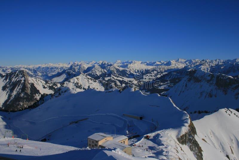 Rochers-de-Naye. Switzerland, in January 2012 royalty free stock photography