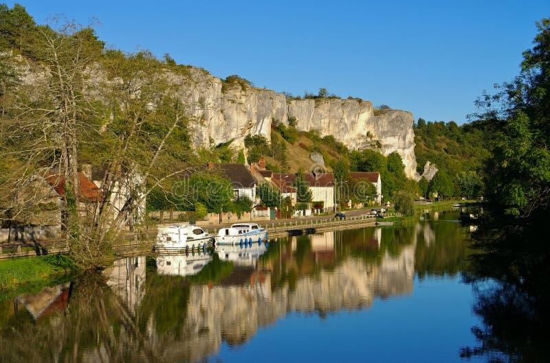 Rochers du Saussois, Burgundy. In France stock image