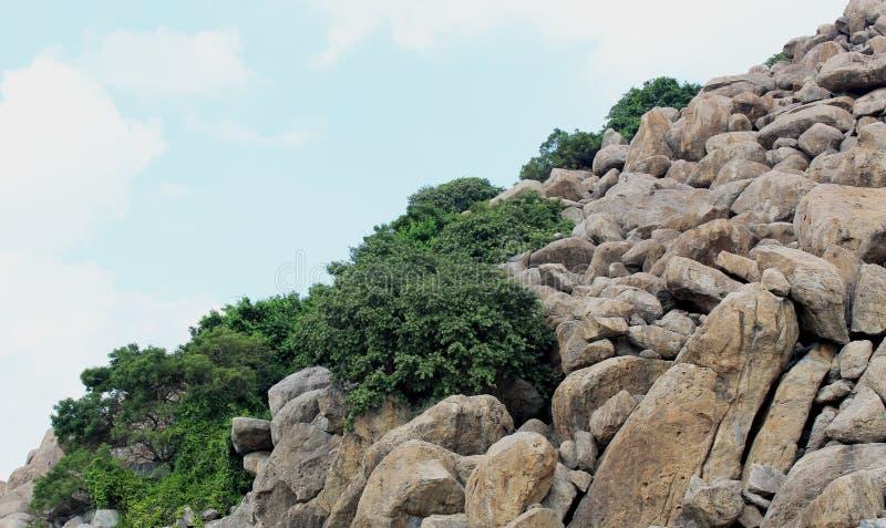 Roches à la colline photos libres de droits
