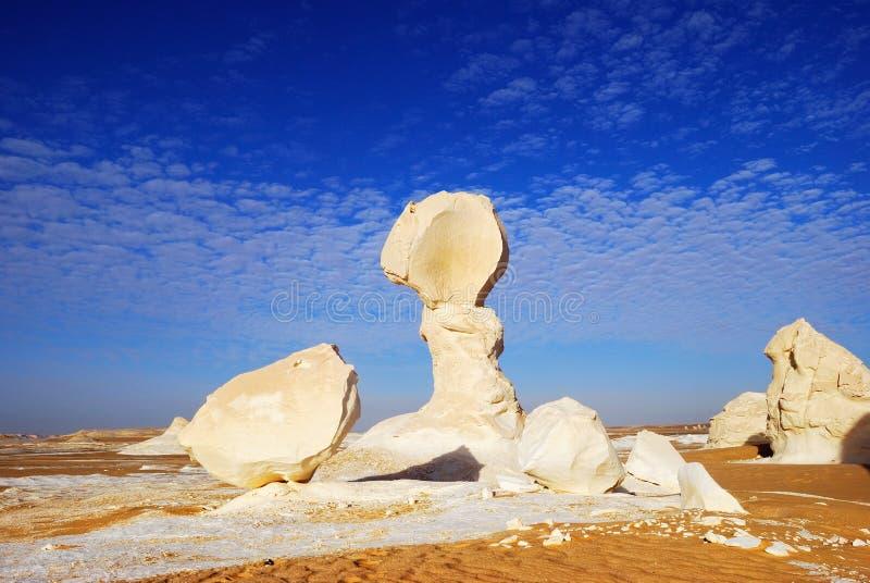Roches dans le désert blanc photo stock
