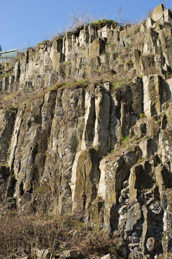 Roches de basalte image stock