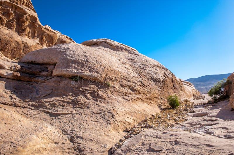 Roches de Beidha photo libre de droits