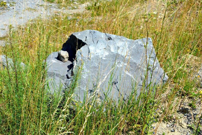 Roches de colonnes de basalte dans Racos, la Transylvanie image stock