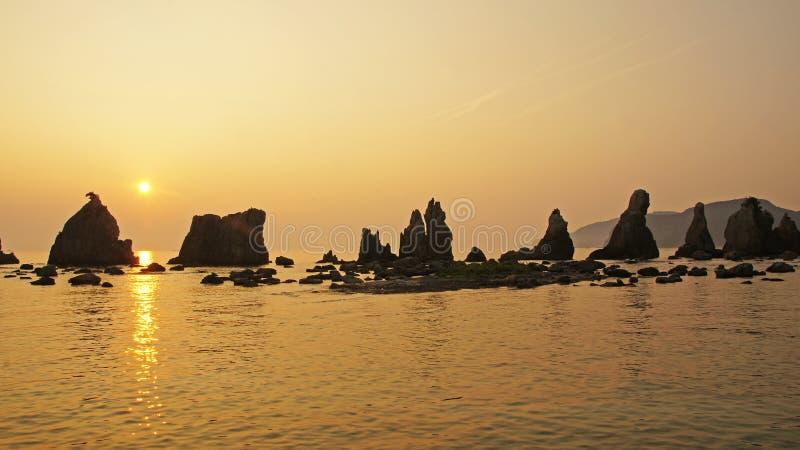 Roches de Hashigui près de Kushimoto, Japon image stock