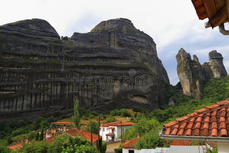 Roches de Meteora, Grèce images libres de droits