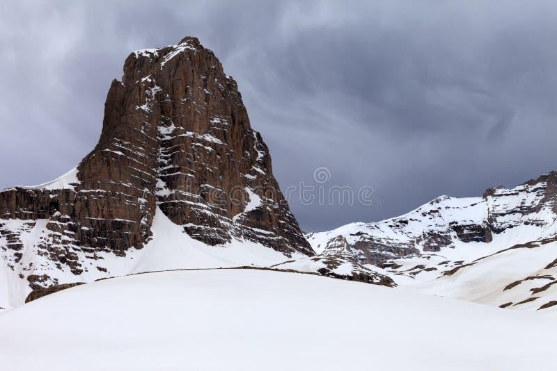 Roches de Milou et ciel gris photos libres de droits