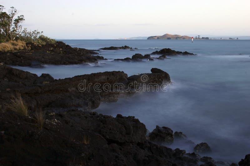 Roches de Rangitoto ! photographie stock libre de droits