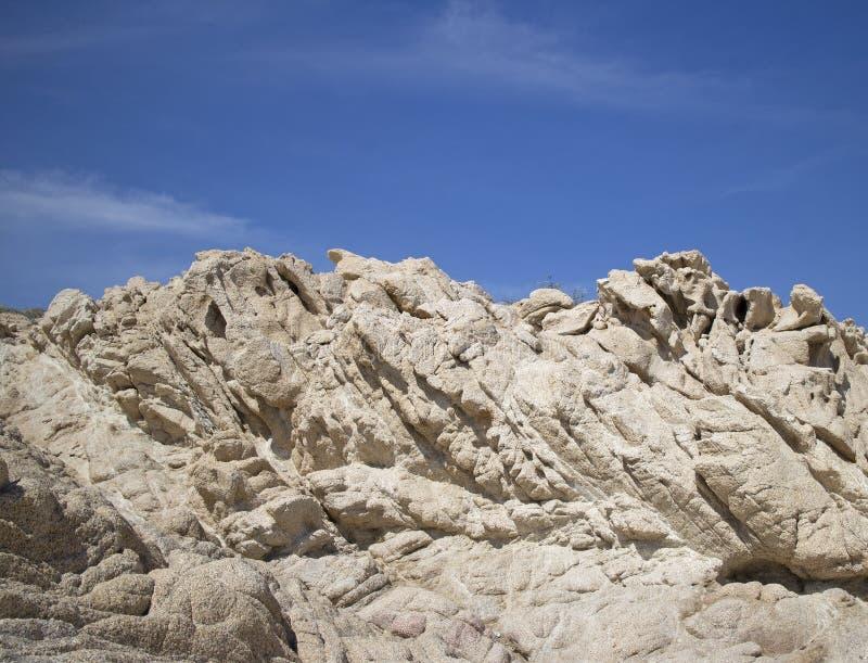 Roches de sable de désert de Los Cabos image libre de droits