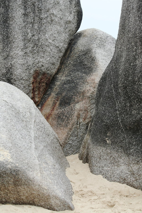 Roches de Sandy photos stock