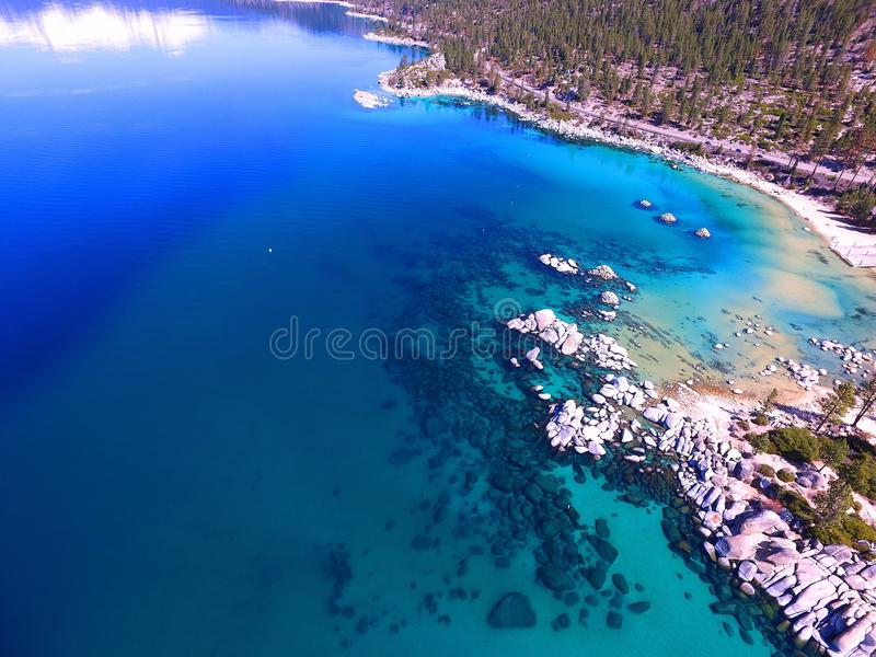 Roches de Tahoe d'en haut photos stock