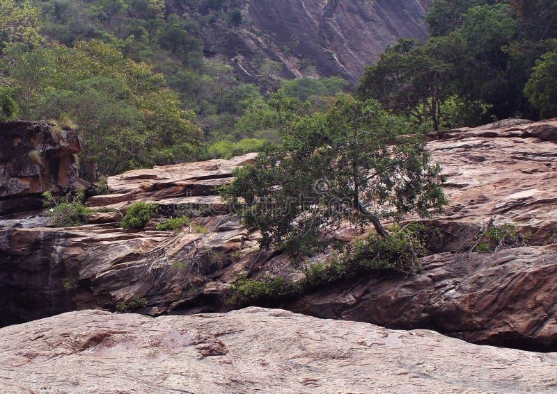 Roches de tuile avec la colline photo libre de droits
