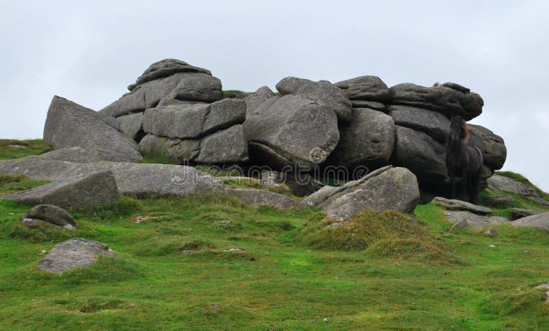 Roches en parc national de Dartmoor photos libres de droits