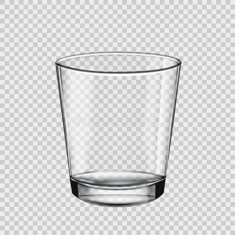 Roches en verre vides pour les boissons alcoolisées, verre transparent Vecteur illustration de vecteur