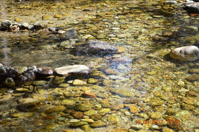 Roches et eau d'une rivière photographie stock