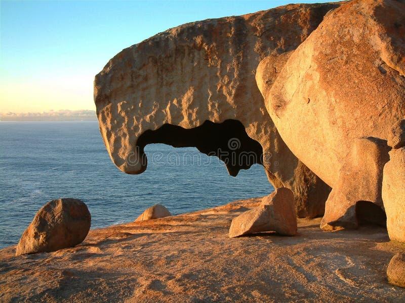 Roches remarquables, île de kangourou images libres de droits