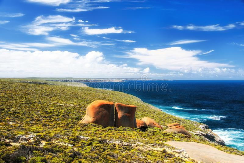 Roches remarquables, île de kangourou, Australie du sud image stock