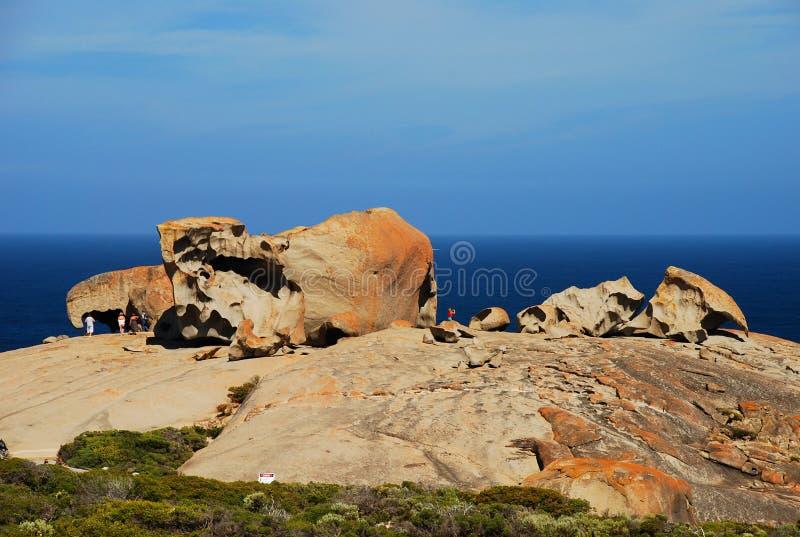 Roches remarquables, parc national de chasse de Flinders Île de kangourou, Australie du sud image stock