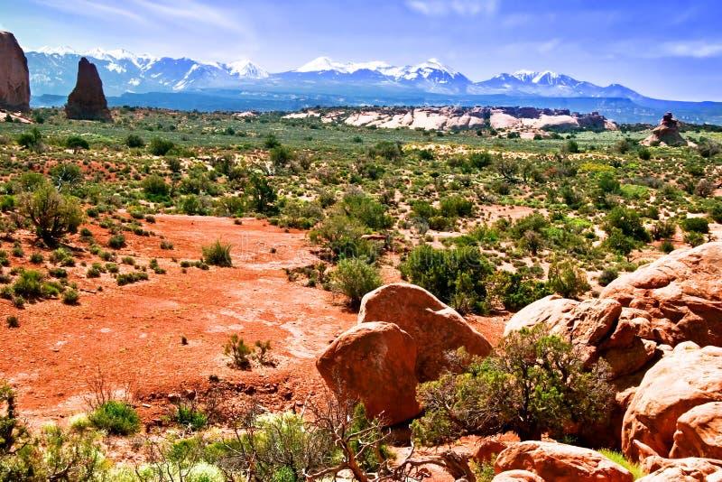 Roches rouges de l'Utah images stock
