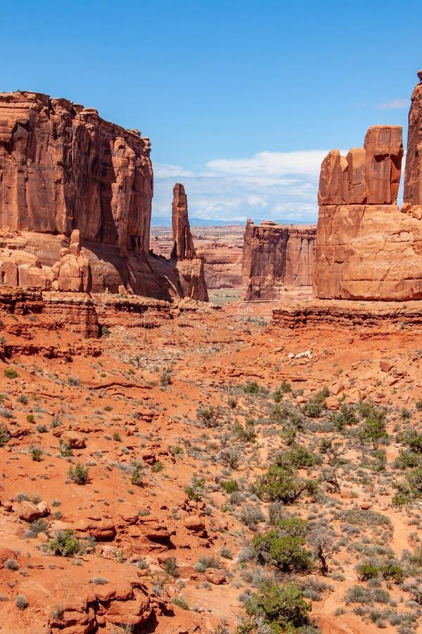 Roches rouges en Utah photo libre de droits