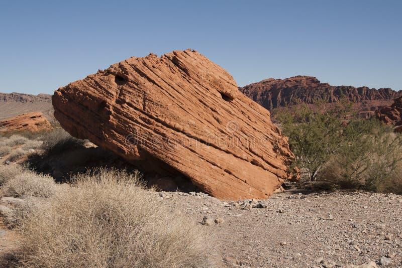Roches rouges en vallée du feu, Nevada photo libre de droits
