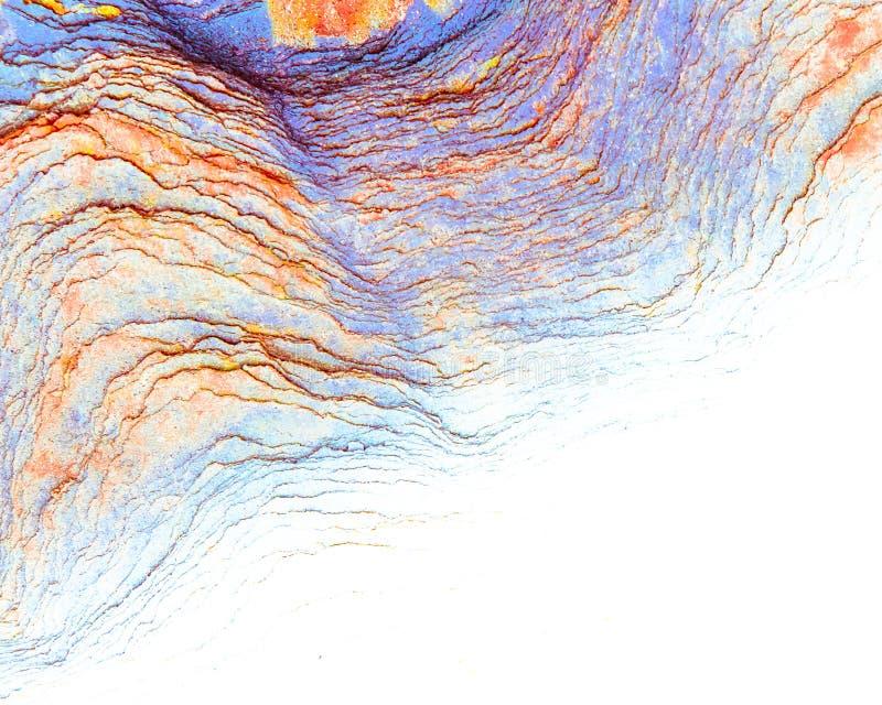 Roches sédimentaires colorées constituées par l'accumulation milieux, modèles et textures naturels de couches de roche de sédimen image stock