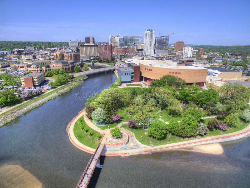 Rochester är en Major City i sydostliga Minnesota som centreras runt om hälsovård arkivbilder