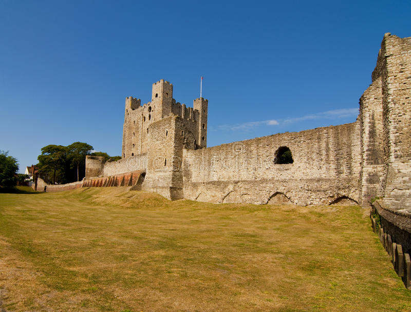 Rochester castle in kent stock photography