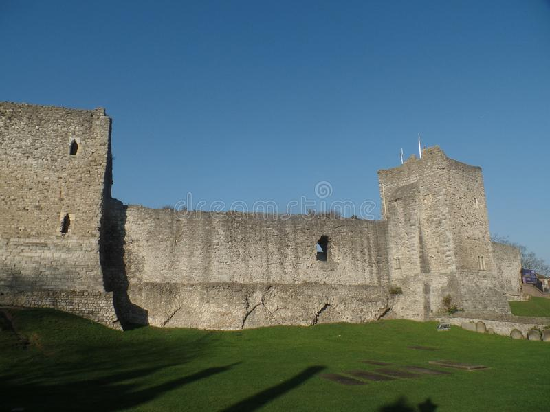 Rochester Castle, Kent, United Kingdom. On a clear and sunny day royalty free stock image