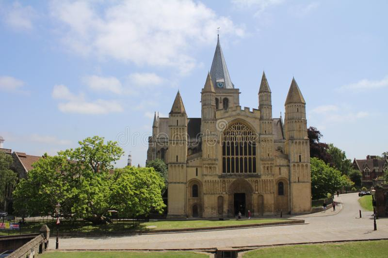 Rochester cathedral English church of Norman architure royalty free stock images