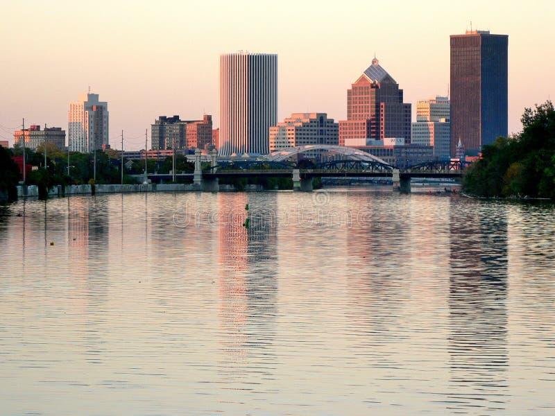 Rochester de stad in stock afbeelding
