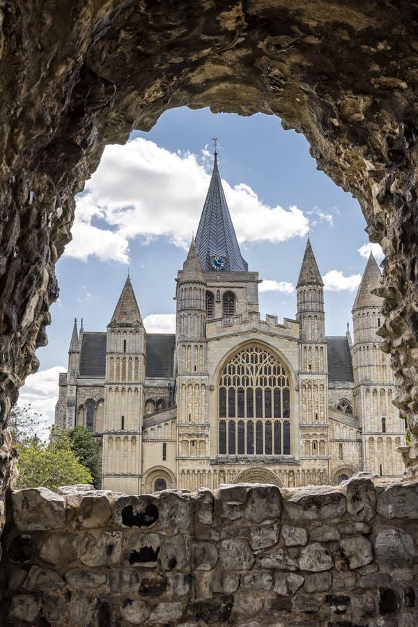 Rochester domkyrka i England arkivfoto