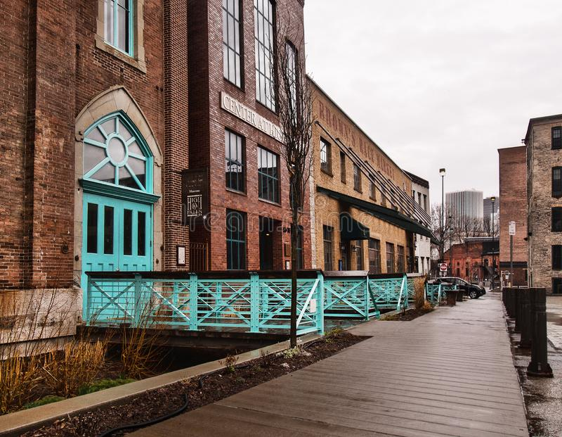 Rochester en d?a lluvioso fotos de archivo