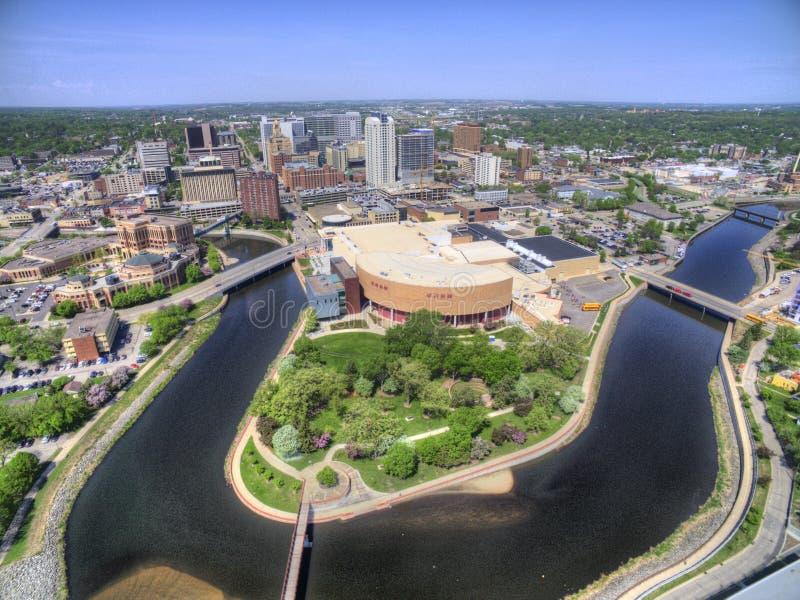 Rochester es Major City en Minnesota suroriental centrado alrededor de atención sanitaria imagen de archivo libre de regalías