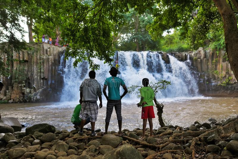 Rochester falls Mauritius royalty free stock photography