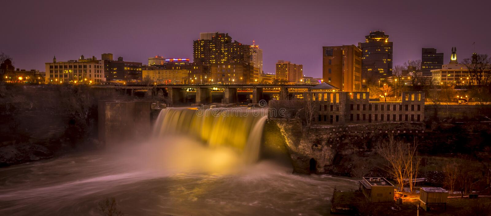 Rochester New York NY High Falls stock photos