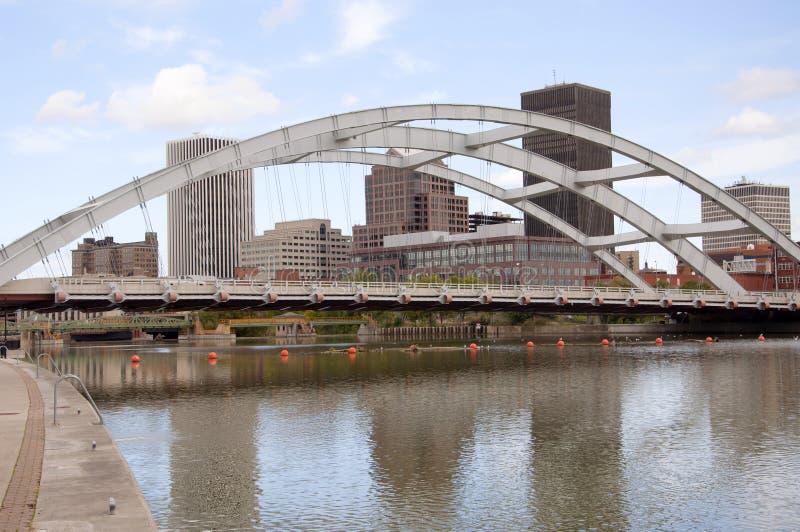 Rochester-Skyline, New York, USA lizenzfreie stockfotografie