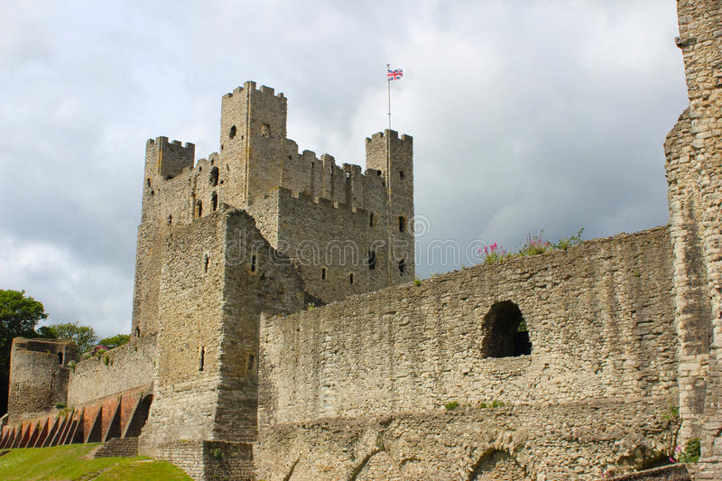 Rochester slott arkivfoto