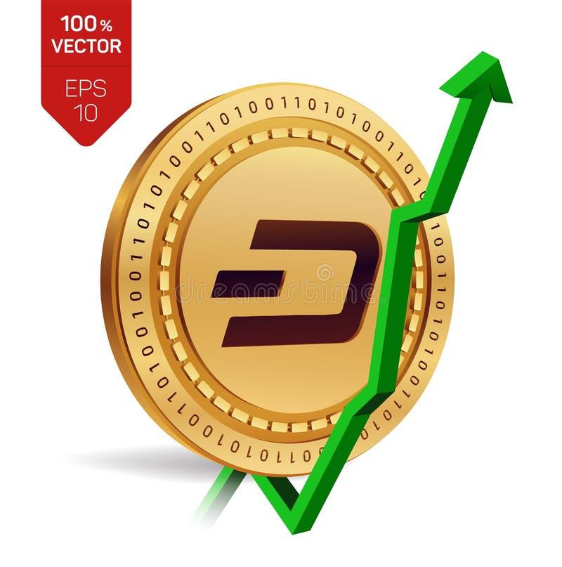 rociada Crecimiento Flecha verde para arriba El grado del índice de la rociada va para arriba en mercado de intercambio Moneda Cr libre illustration