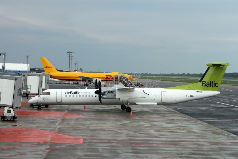 Rociada 8 de AirBaltic imágenes de archivo libres de regalías