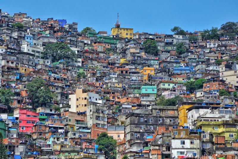 Rocinha Favela,里约热内卢,巴西 库存图片