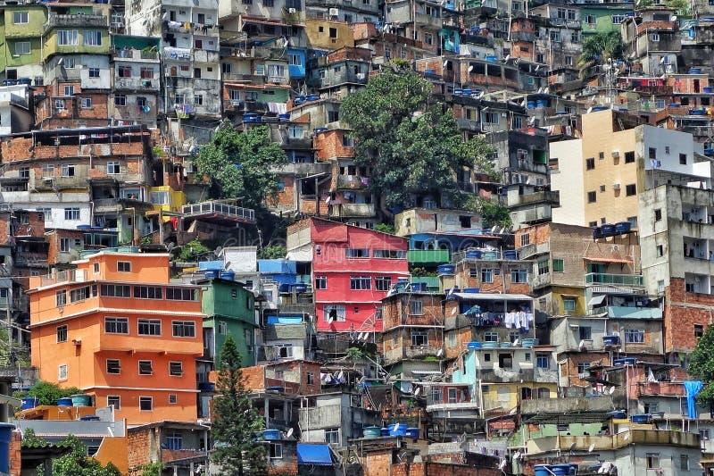 Rocinha Favela,里约热内卢,巴西 图库摄影
