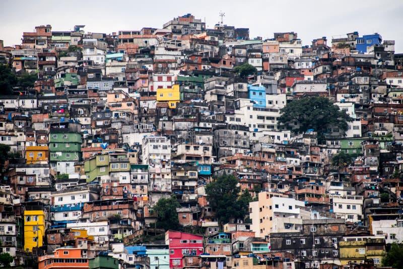 Rocinha Favela dall'esterno fotografie stock