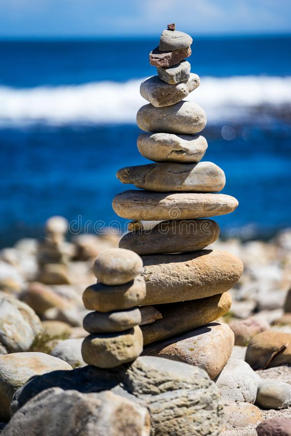 Stacked Stones stock image